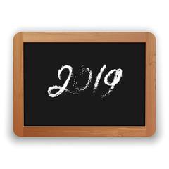 2019 Chalk Calligraphy on the Blackboard