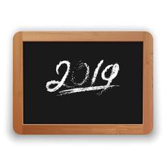 Underline 2019 Chalk Calligraphy on the Blackboard