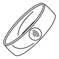 Nfc smart bracelet icon. Outline nfc smart bracelet vector icon for web design isolated on white background