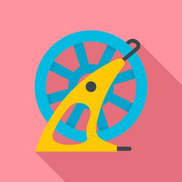 Hose wheel pool icon. Flat illustration of hose wheel pool vector icon for web design
