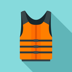 Life jacket icon. Flat illustration of life jacket vector icon for web design