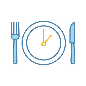 Lunch time color icon