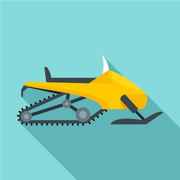Sport snowmobile icon. Flat illustration of sport snowmobile vector icon for web design