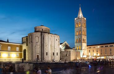 Roman forum and church St. Donata in Zadar, Croatia