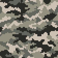 Camouflage Pattern Digital Pixels ACU  Digital Seamless Vector Illustration