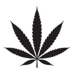 Marijuana vector cannabis leaf weed icon logo symbol sign illustration graphic