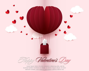 Happy valentines day greeting cards with ornaments, hearts and flowers. Vector design of love festival.