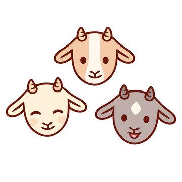 Cute baby goats set