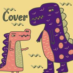 cute dinosaur illustration as vector for baby tee print - Vector