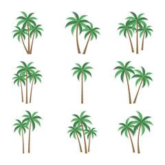 [PALM TREE SET] A palm tree vector set.