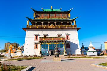 Gandantegchinlen Monastery   in Ulaanbaatar Wall mural