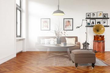 Modern Retro Style Furnishing (design)