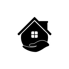 Vector House Care Logo icon design template.
