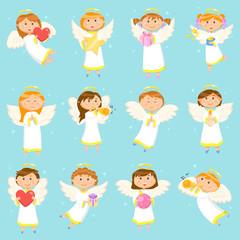 Angel Children, Boys and Girls Winter Holiday