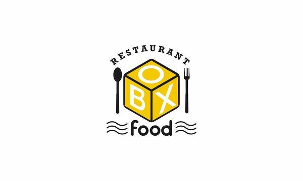 box food logo design template