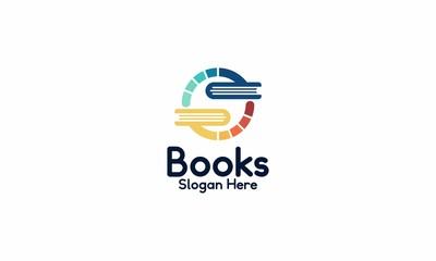 book swap logo design template vector illustration