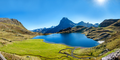 view of the mountain of Pic Du Midi Ossau, France, Pyrenees