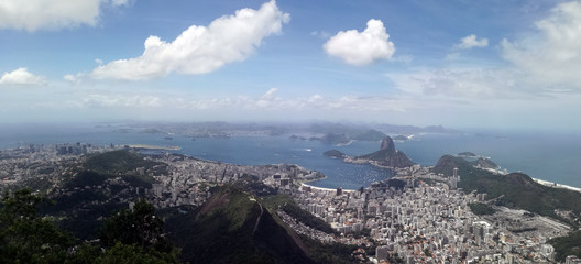 Panorama della baia di Botafogo e del Pan di Zucchero, Rio de Janeiro