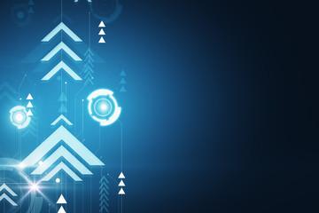 Blue digital backdrop