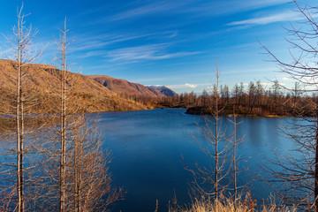 Autumn nature of the Taimyr. Norilsk Talnakh
