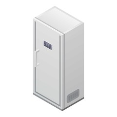 Modern fridge icon. Isometric of modern fridge vector icon for web design isolated on white background