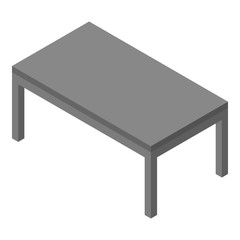 Grey table icon. Isometric of grey table vector icon for web design isolated on white background