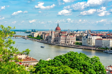 Printed kitchen splashbacks Budapest Hungarian parliament building in Budapest