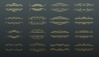 Swirl, scroll and divide Wall mural