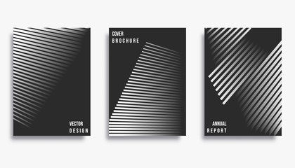 Abstract cover template design set. Vector illustration.