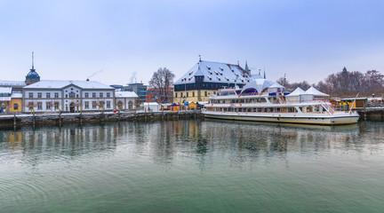 Winter im Hafen von Konstanz