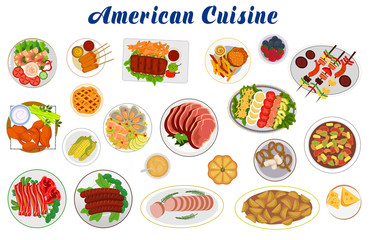 american cuisine Set icon