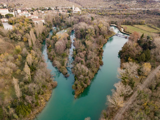 The Timavo River (Il fiume Timavo, Timava, Timav) is a two-kilometre stream in the Province of Trieste. It has four sources near San Giovanni (Štivan) near Duino (Devin)