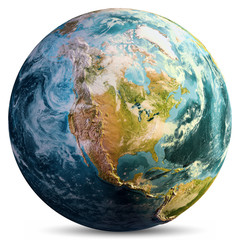 Wall Mural - Planet Earth map