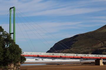 puente peatonal,playa la arena ,muskiz , vizcaya