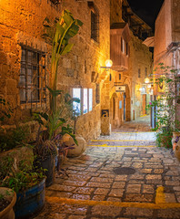 Narrow street in the old town of Jaffa
