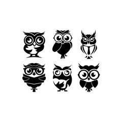 cartoon owl with sunglasses - inspiration owl Vector