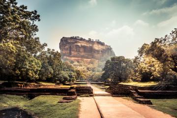 Sigiriya Lion rock mountain unesco landmark Sri Lanka