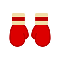 Boxing glove. Boxing glove is red colour. Vector illustration. EPS 10. Sport.