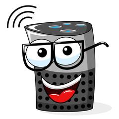 smart speaker cartoon funny isolated