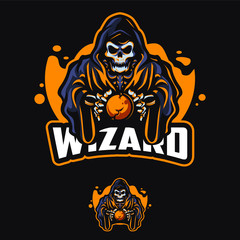 Wizard mascot logo