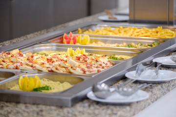 Foto op Aluminium Buffet, Bar Buffet with meat and vegetables 5