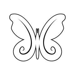butterfly icon. Element of cyber security for mobile concept and web apps icon. Thin line icon for website design and development, app development