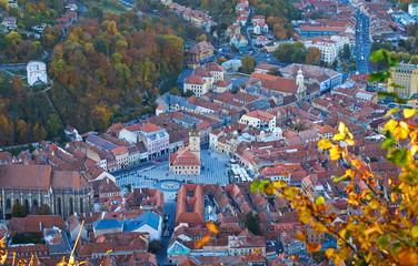 Aerial View Panorama of Brasov City Center 6