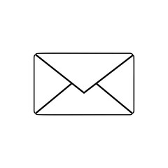 the envelope icon. Element of web for mobile concept and web apps icon. Thin line icon for website design and development, app development
