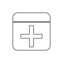 first-aid kit icon. Element of web for mobile concept and web apps icon. Thin line icon for website design and development, app development