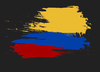 Vector Colombia flag, Colombia flag illustration, Colombia flag picture, Colombia flag