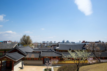 Hwaseong Temporary Palace. Suwon Hwaseong Fortress is a fortress wall during the Joseon Dynasty and is a World Heritage Site owned by Korea.