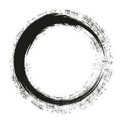 Grunge round with brush vector brush strokes circles