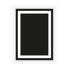 Realistic picture frame isolated on white background. Perfect for your presentations. Vector illustration EPS 10.