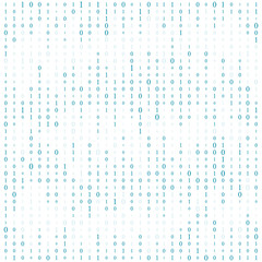 Background With Digits On Screen. binary code zero one matrix white background. banner, pattern, wallpaper. Abstract Matrix Background. Binary Computer Code. Coding. Hacker concept. Vector Background